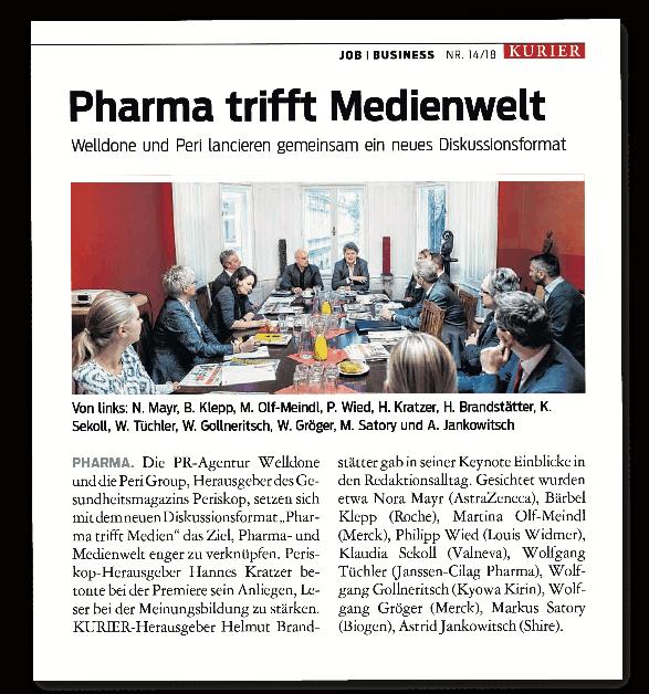 pharma trifft medien kurier