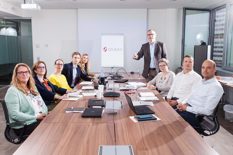 Das Leadership-Team von Gilead Sciences Austria. | © Peter Provaznik