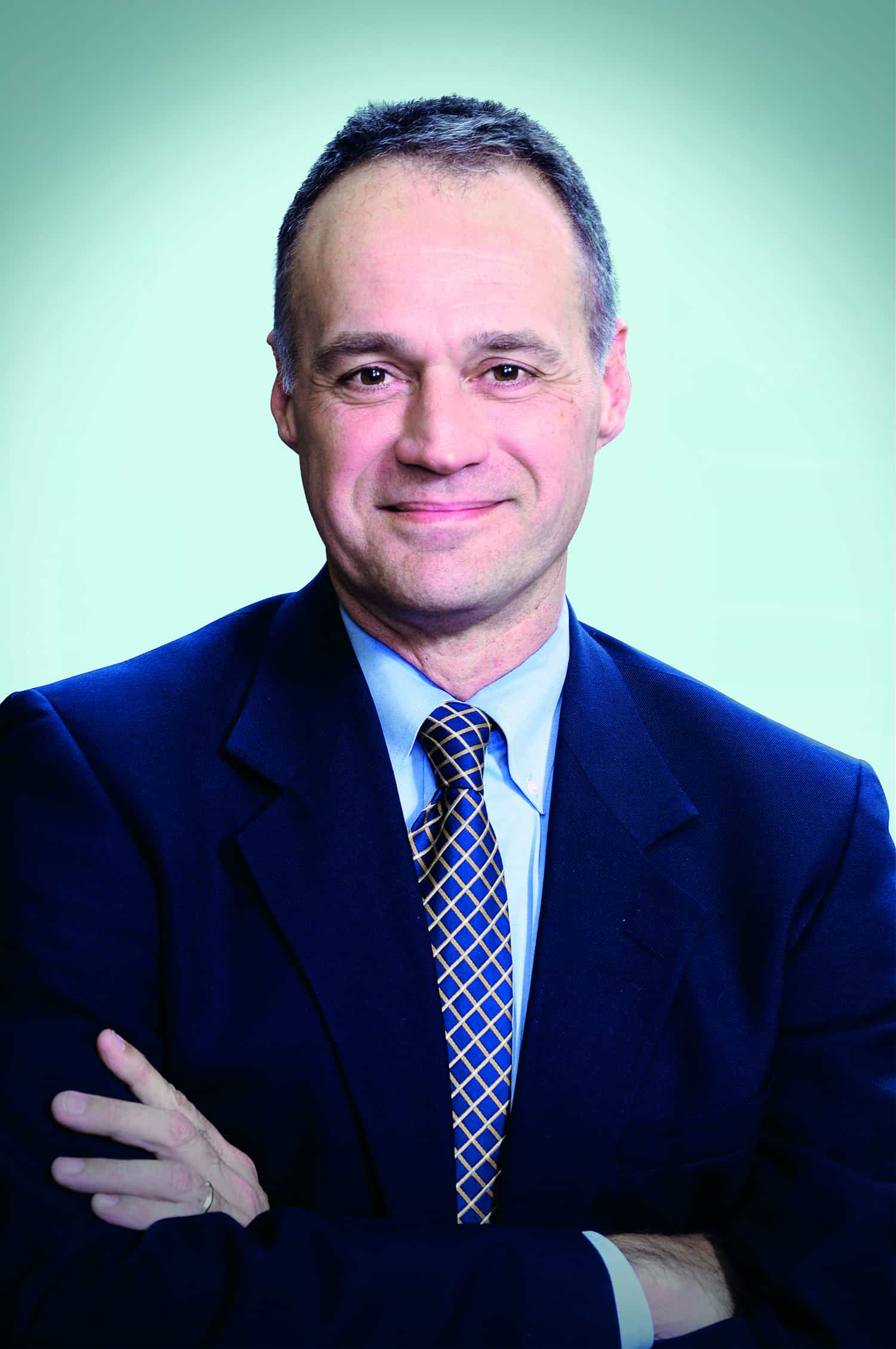 Formal portrait of Michael Bishop MD, Professor of Medicine, Director, Hematopoietic Stem Cell Transplantation Program, Master Clinician, Bucksbaum Institute for Clinical Excellence. (Photo by David Christopher)