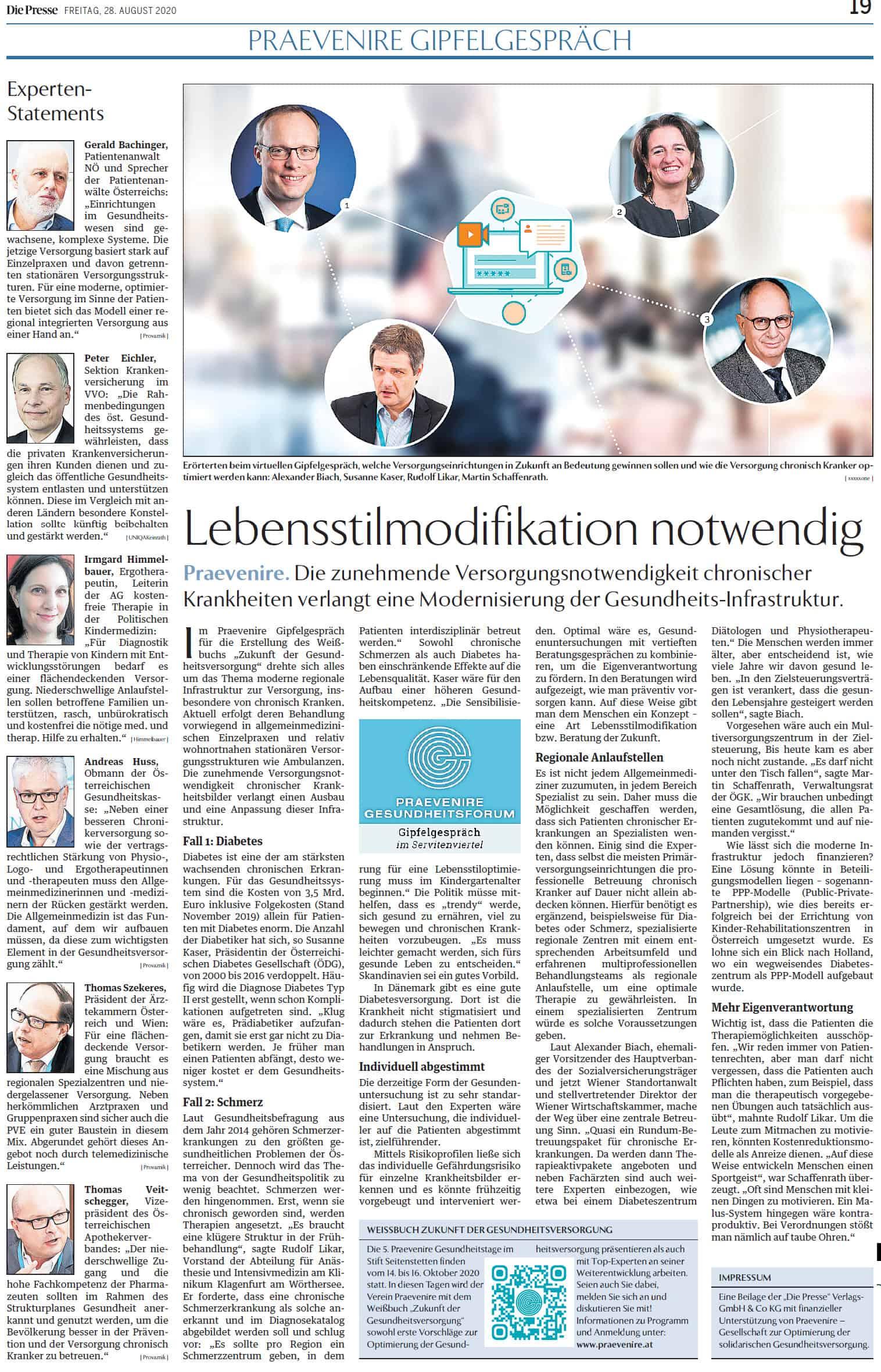 Die Presse, 28. August 2020